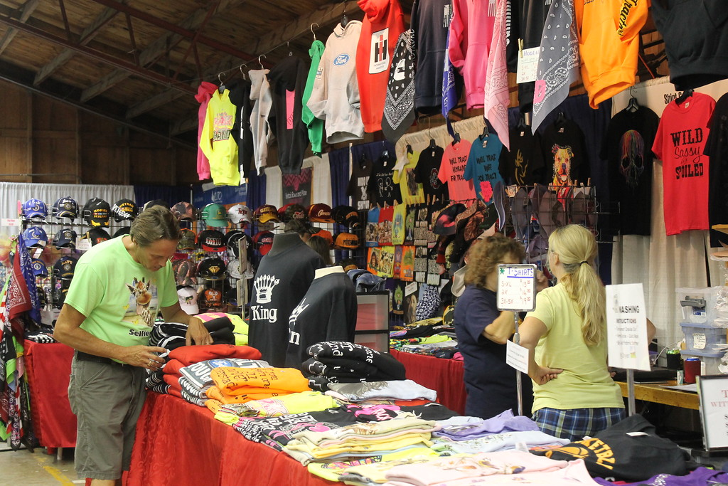 . Vendors are set up in some of the show barns at the Lorain County Fair. Admission to the fair is $5 and it runs until Sunday August 27. (Kailee Leonard/The News-Herald)