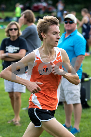 Sam Buckner for Shaw Media.<br /> Jacob Trapp runs at the Sycamore Invitational on Tuesday August 29, 2017.