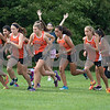 Sam Buckner for Shaw Media.<br /> The DeKalb girls varsity team jumps off the starting line at the Sycamore Invitational on Tuesday August 29, 2017.