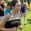 Sam Buckner for Shaw Media.<br /> Hannah Kirby runs at the Sycamore Invitational on Tuesday August 29, 2017.