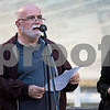 Sam Buckner for Shaw Media.<br /> Joe Gastiger from the First Congregational United Church of Christ speaks to attendees of the Candle Vigil on Thursday August 31, 2017.
