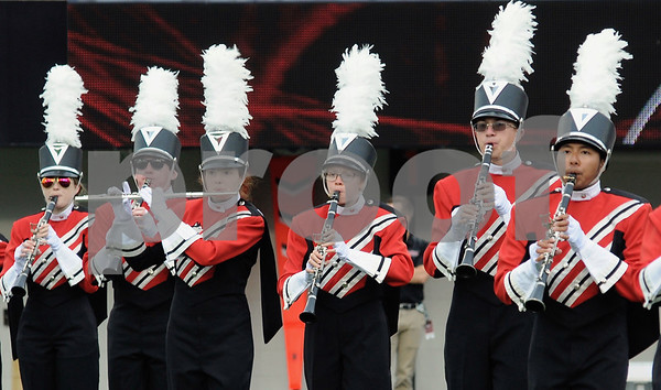 The NIU band warms up the crowd for the football season opener on Saturday at Huskie Stadium.  Steve Bittinger - For Shaw Media