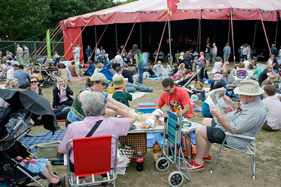 People relaxing at Ealing Jazz Festival July 2009, Walpole Park,  Ealing, W5, London, United Kingdom