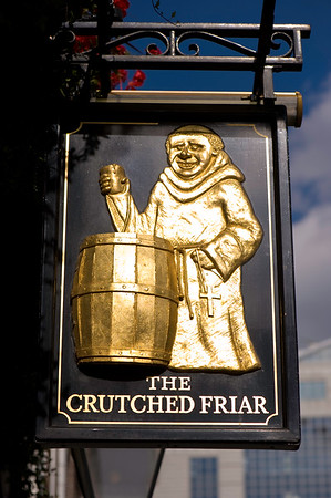 Pub sign, London, United Kingdom