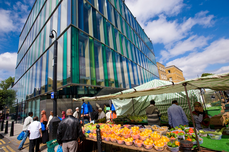 market on Whitechapel Road, E1, London, United Kingdom