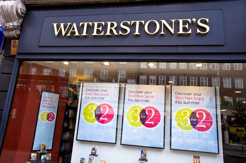 Waterstones shop, London, United Kingdom