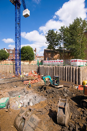 New homes being constructed in Ealing Common, W5, London, United Kingdom