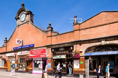 Hammersmith and City underground station, Hammersmith, W6, London, United Kingdom