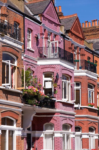 Houses in Barons Court, W14, London, United Kingdom