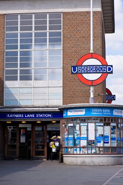 Rayners Lane underground station, London, United Kingdom