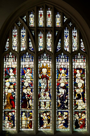 Stained glass window, St Margarets Church, Uxbridge, Middlesex, United Kingdom