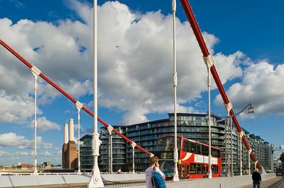 Chelsea Bridge over THames River, London, United KIngdom