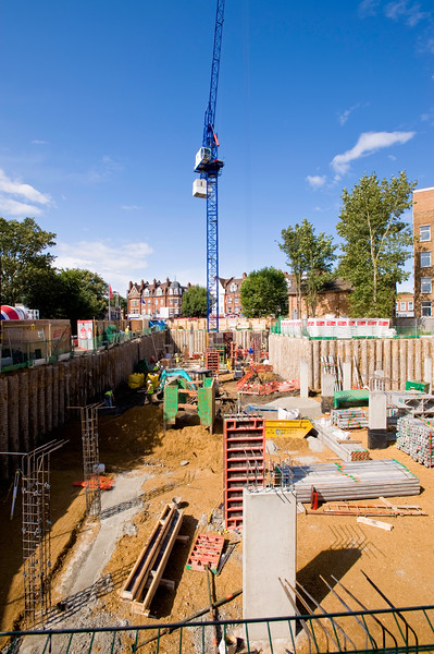 Linden Homes is building new houses, Ealing Common, W5, United KIngdom