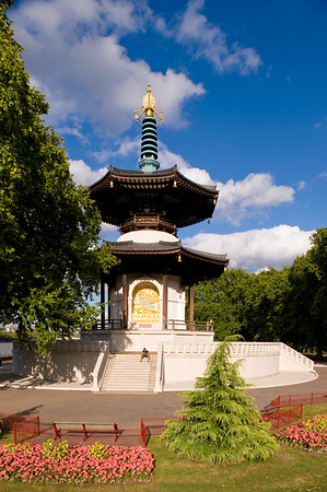 Buddhist Pagoda in Battersea Park, SW11, London, United KIngdom