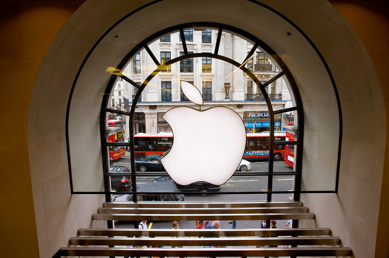 Regent street seen from Apple stere, London, United KIngdom