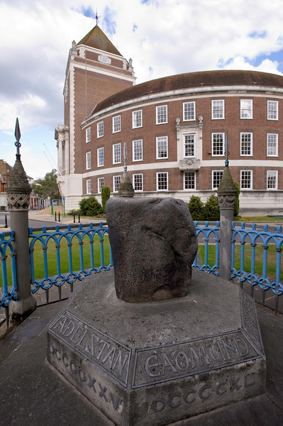Coronation Stone by Guildhall, Kingstone upon Thames, Surrey, United Kingdom