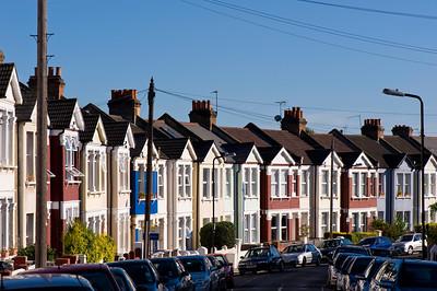Row of houses, Acton, W3, London, United Kingdom