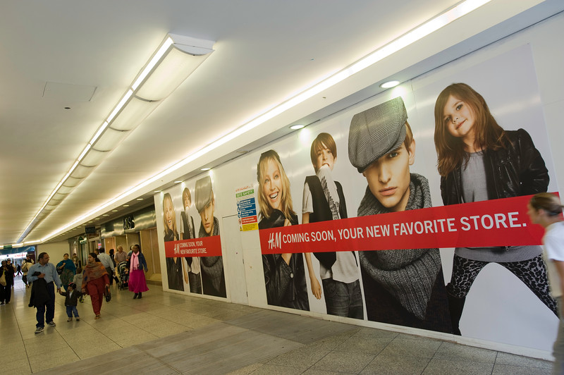 H&M store openning soon in Ealing Broadway shopping centre, W5, London, United Kingdom