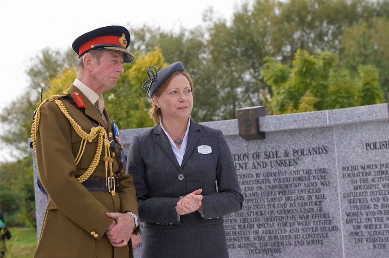 The Polish Armed Forces Memorial Unveiling Ceremony by HRH The D