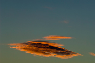 Sky at sunset over the Pirin Mountains,Bulgaria