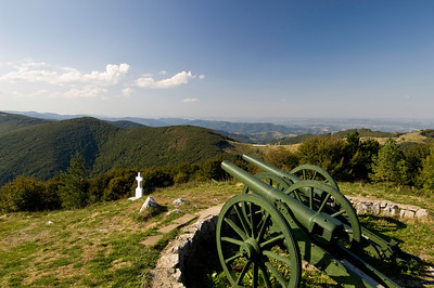 Cannons at Freedom Monument by Shipka Pass, Stara Planina Mounta