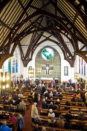 Presentation of plague THANK YOU FOR SOLIDARNOSC, Church of St Andrew Bobola, Hammersmith, London, United Kingdom, 21.02.2010