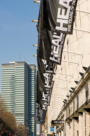 HEALS department store on Tottenham Court Road, London, United Kingdom