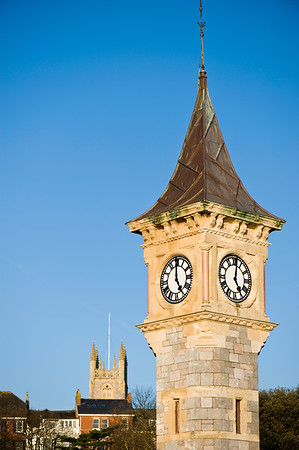 Clock tower, Exmouth, Devon, United Kingdom