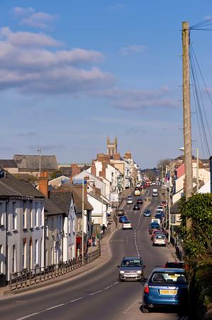 Street scene, Honiton, Devon, United Kingdom
