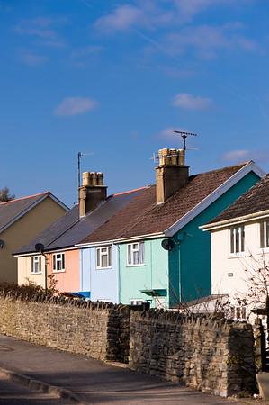 Village scene, Charmouth, United Kingdom