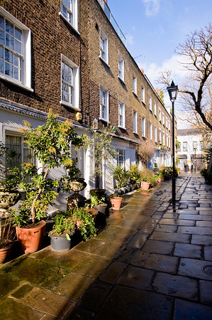 Town houses in Fitzrovia, London, United Kingdom