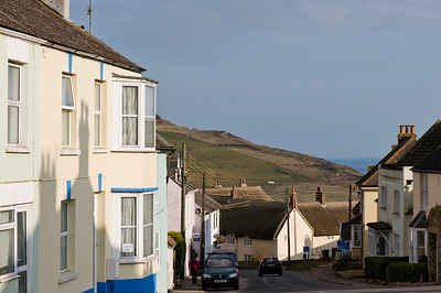 Village scene, Charmouth, United Kingdom