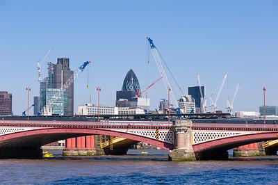 Blackfriers Bridge across Thames River, London, United Kingdom