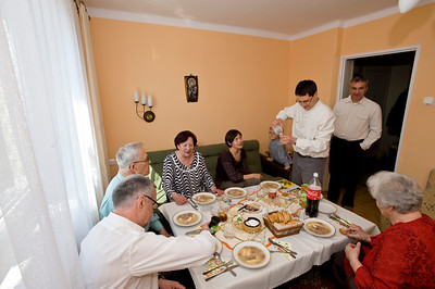Wrona Family during Easter celebrations 2010, Starachowice, Poland