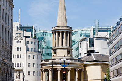 All Souls Church by BBC Broadcasting House on Langham Place, London, United Kingdom