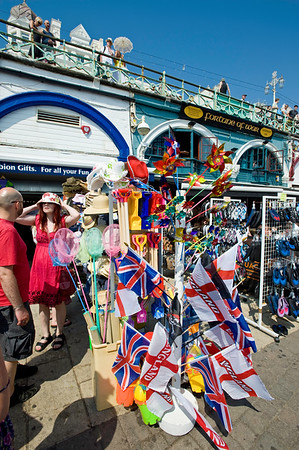 Souvenir shop at the seafront, Brighton, East Sussex, United Kingdom