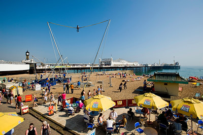 Seafront and pier, Brighton, East Sussex, United Kingdom