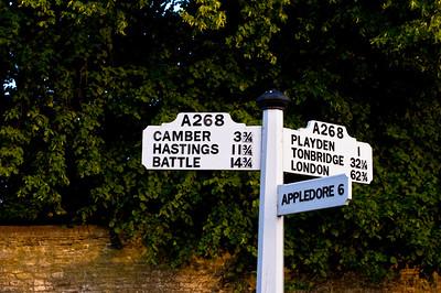 Roadsign, Rye, East Sussex, United Kingdom