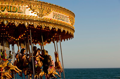 Merry-go-round on the seafront, Brighton, East Sussex, United Kingdom