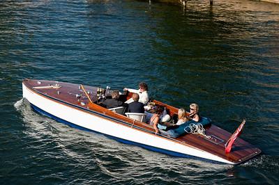Leisure river cruise on Thames River, Henley-on-Thames, Buckinghamshire, United Kingdom