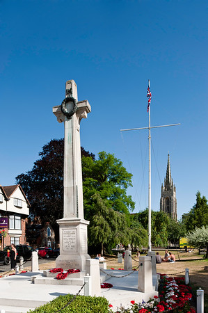 War Memorial in Marlow historic town situated on the River Thames, Buckinghamshire, England, United Kingdom