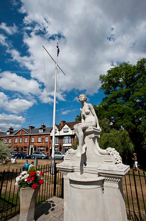 Marlow historic town situated on the River Thames, Buckinghamshire, England, United Kingdom