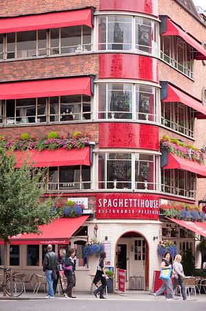 Spaghetti House restaurant on Goodge Street, Fitzrovia, W1, London, United Kingdom