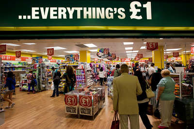 One Pound shop in Ealing Broadway Shopping Centre, W5, Ealing, London, United Kingdom