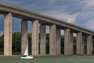 Orwell Bridge spanning River Orwell near Ipswich, Suffolk, England, United Kingdom