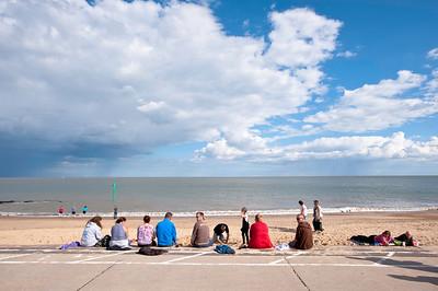 Beach in Felixstow, Suffolk, England, United Kingdom