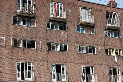 Housing estate destined for regeneration, Hackney, London, United Kingdom
