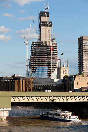 Shard London Bridge building during construction, SE1, London, United Kingdom