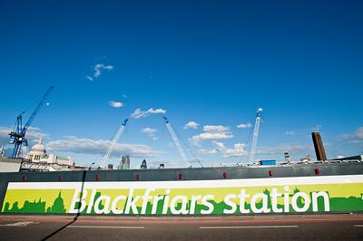 Blackfriers station during consruction, London, United Kingdom