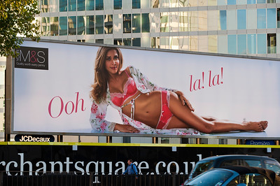 Marks and Spencer advertising compaigne for lingerie, London, United Kingdom